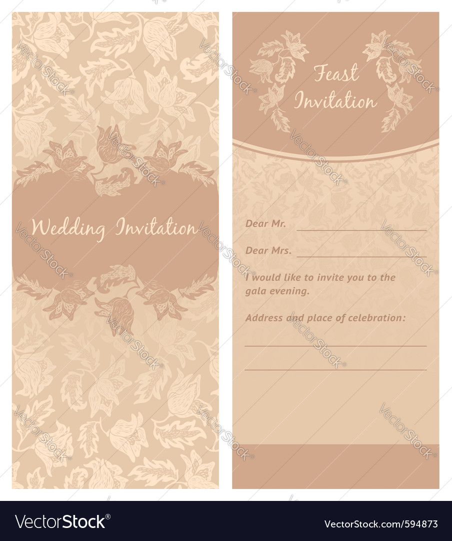 Description wedding invitation flowers ornament background