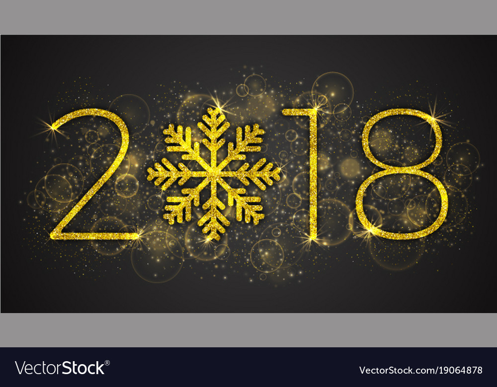 2018 year vector image