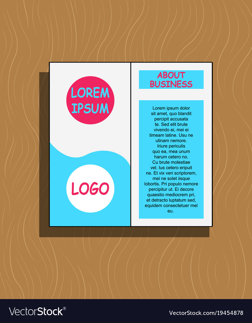 abstract flyer design background brochure template