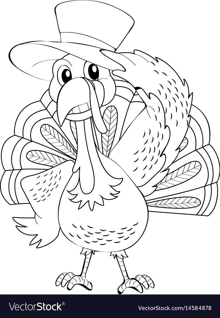 Animal outline for wild turkey