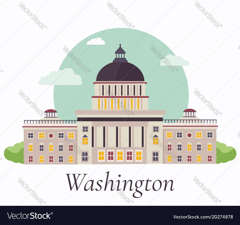 Capitol in washington vector image