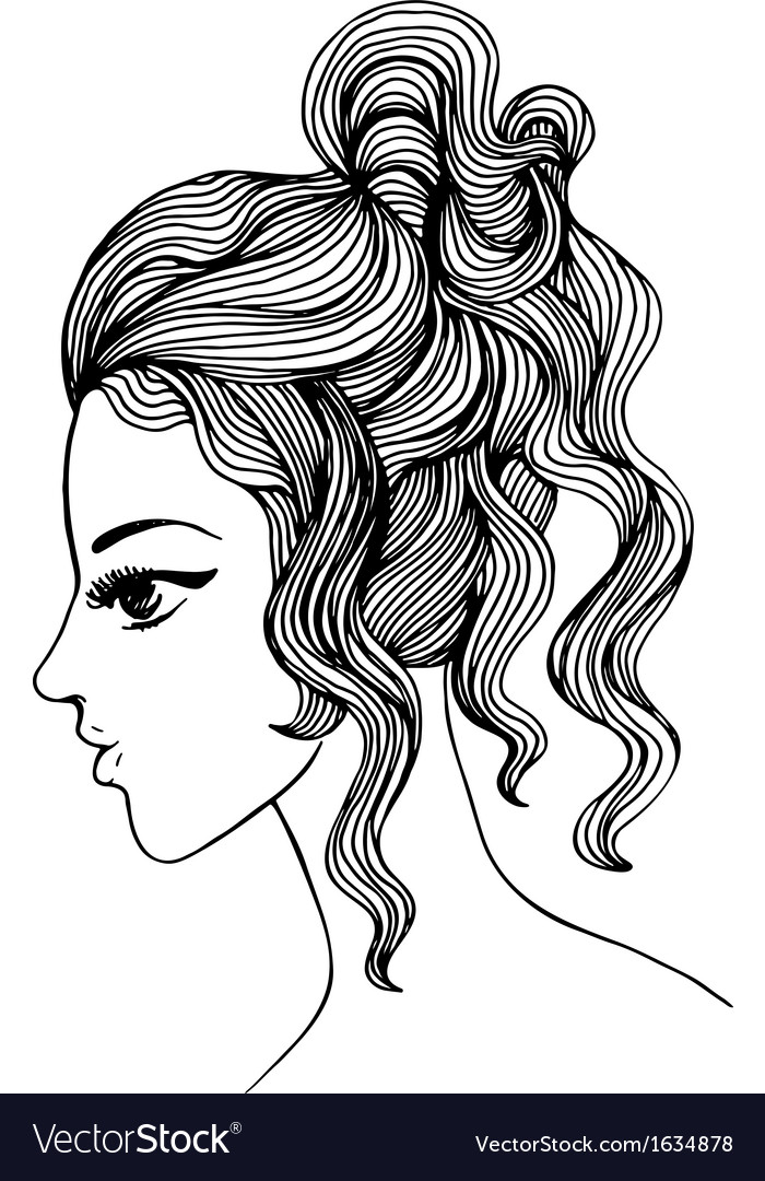 Elegant girl profile for Your design