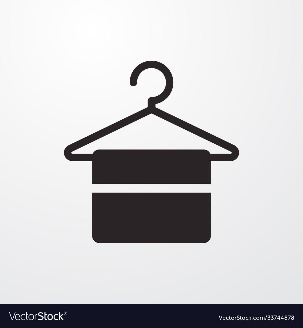 Hanger sign icon