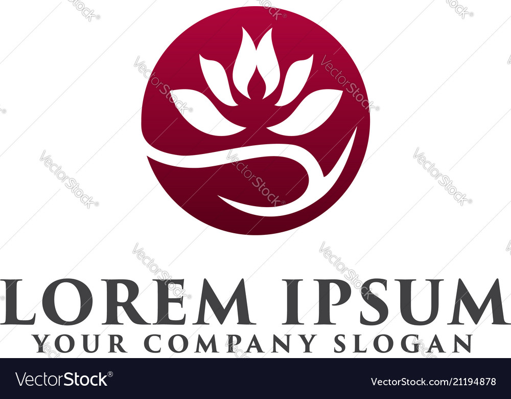 Lotus flower logobeauty fashion logo template Vector Image