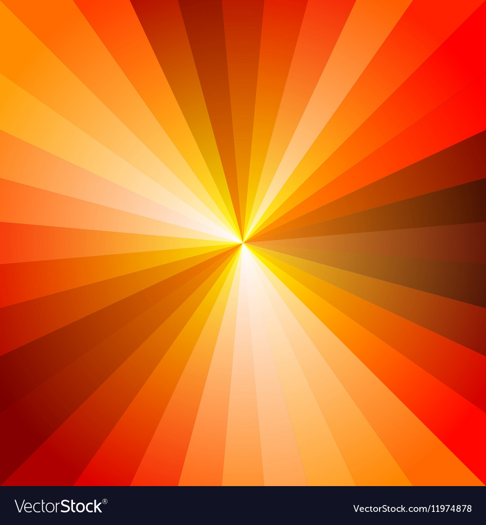 Red hot light ray abstract background