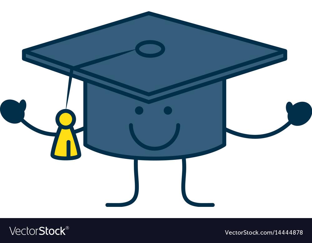 student graduation hat royalty free vector image rh vectorstock com graduation hat vector free graduation hat vector free