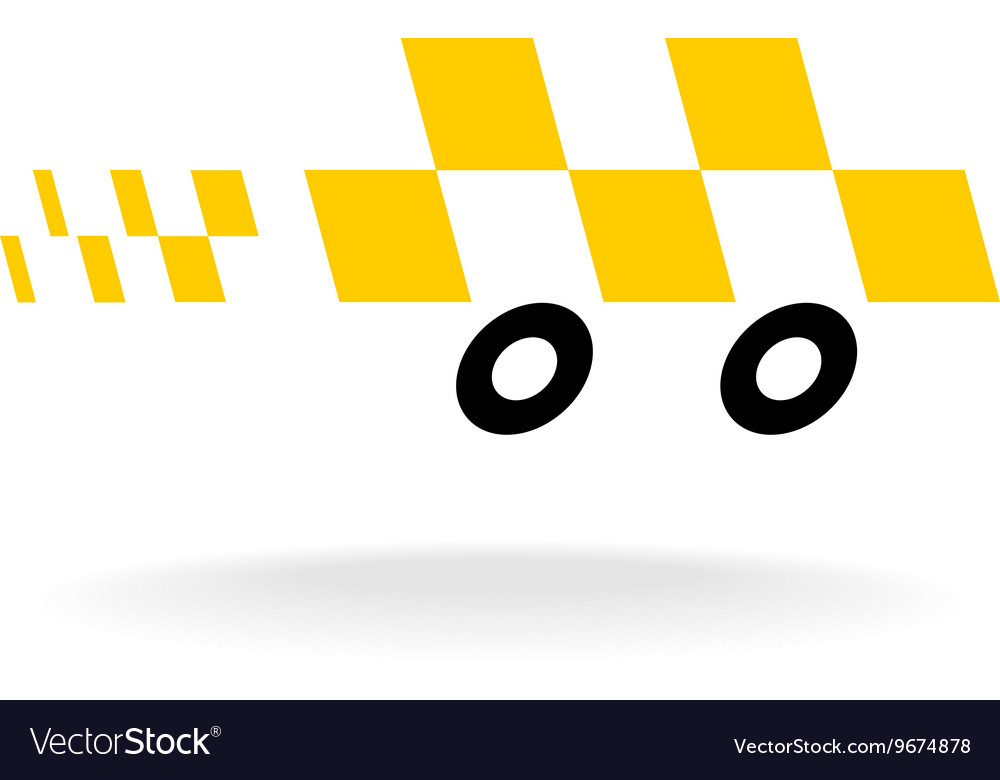 taxi logo checkers symbol moving dynamic auto car vector image  vectorstock