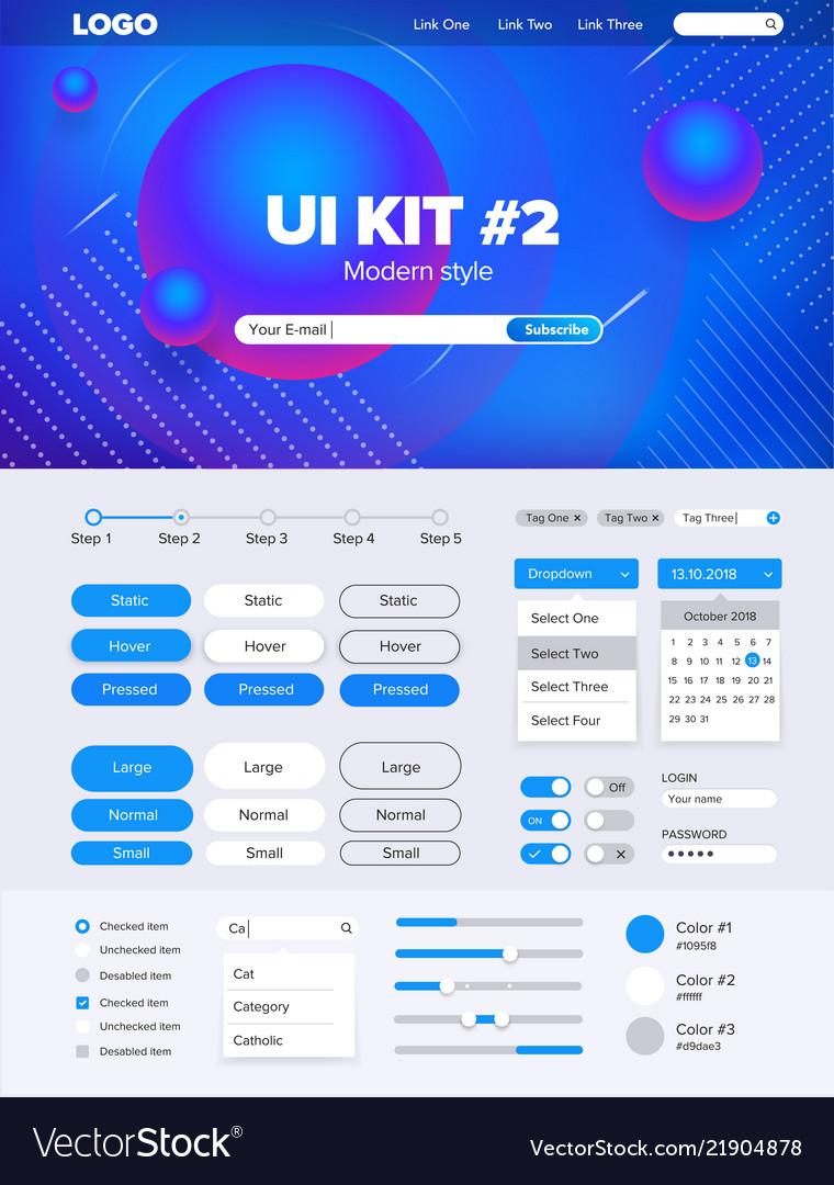 Ui kit for websiteui kit for website temlate