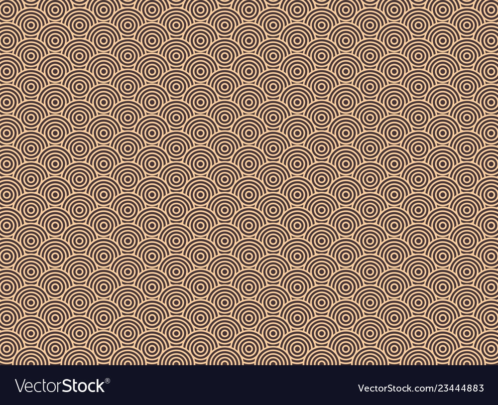 Abstract of art deco round circle pattern
