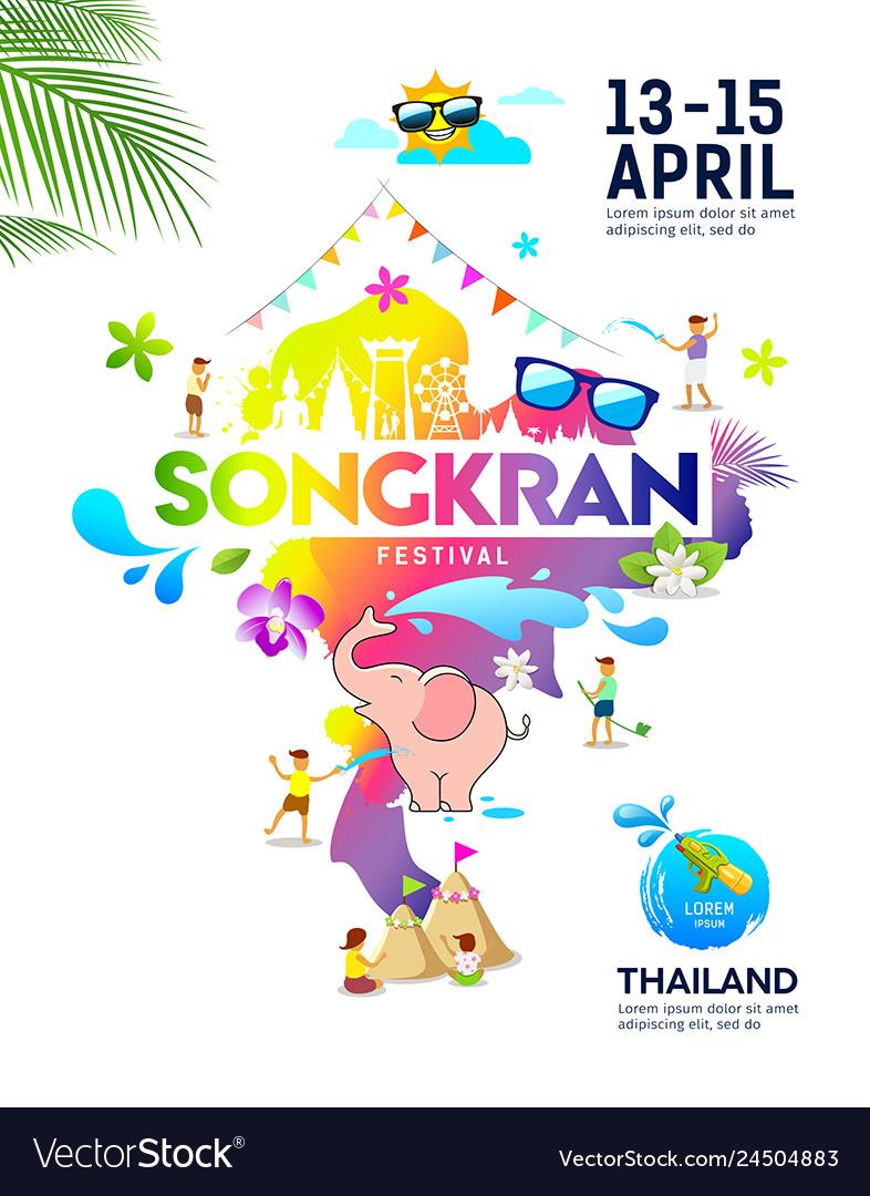 Amazing songkran festival ideas map thailand