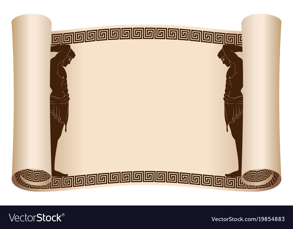 Ancient greek papyrus Royalty Free Vector Image