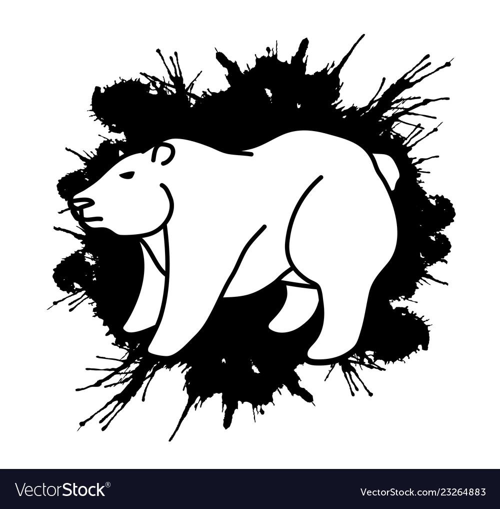 Big bear standing graphic