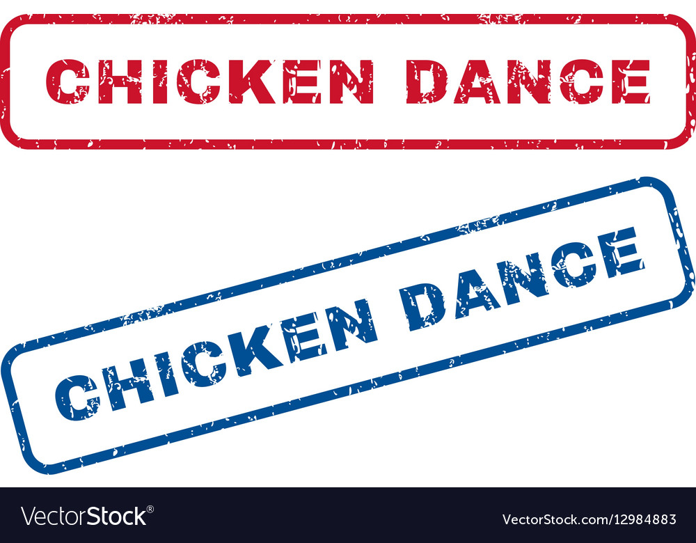 Chicken Dance Rubber Stamps vector image