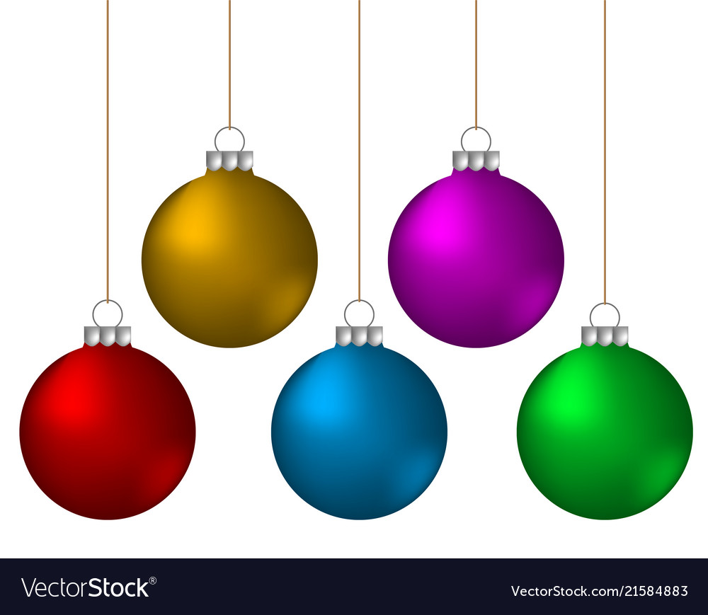 Decorative Christmas Ball Ornaments: Christmas Balls Decoration Color Ornament Vector Image