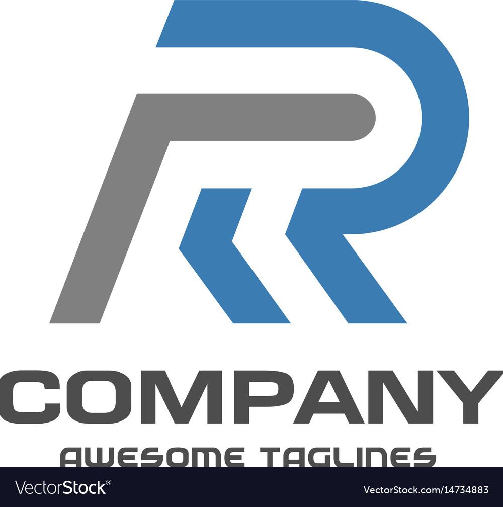 Creative letter r logo vector image