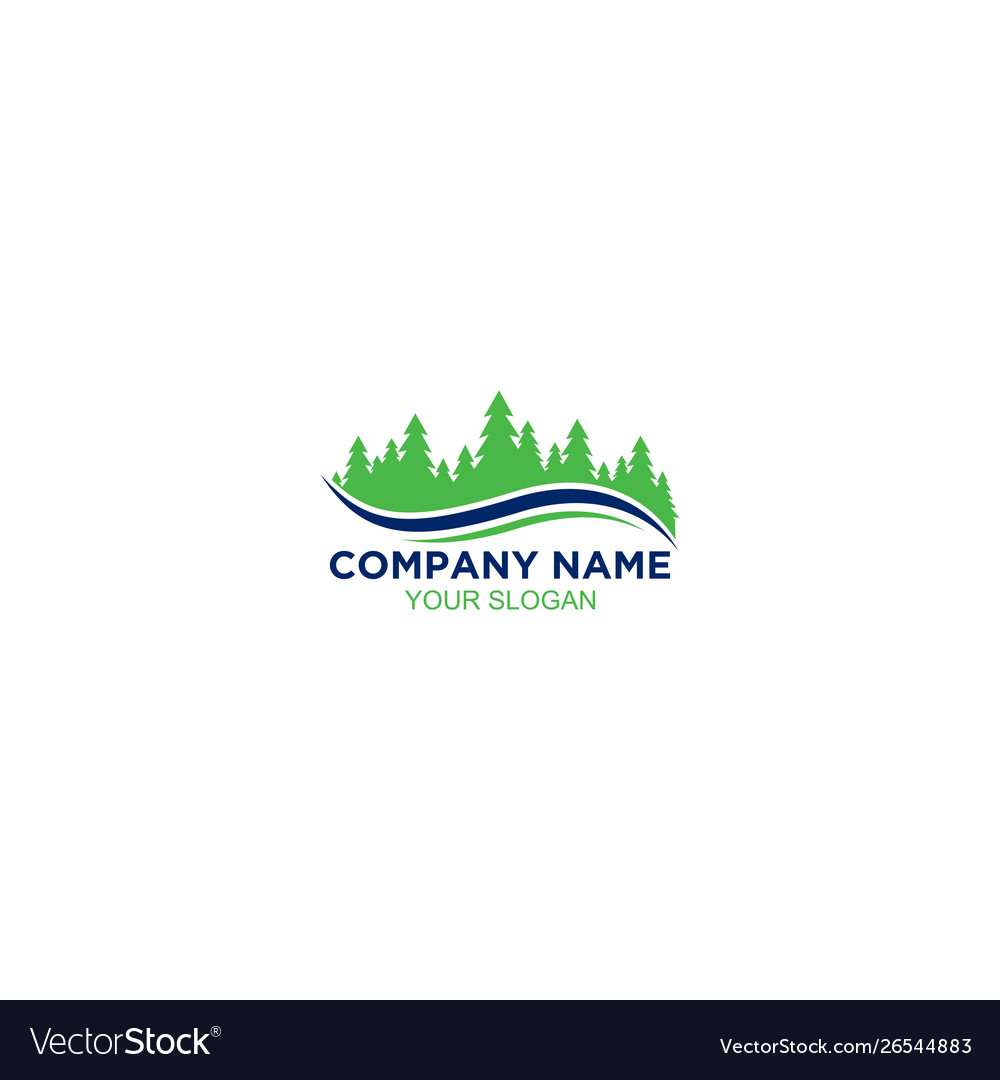Grass Lawn Care Logo Design Royalty Free Vector Image