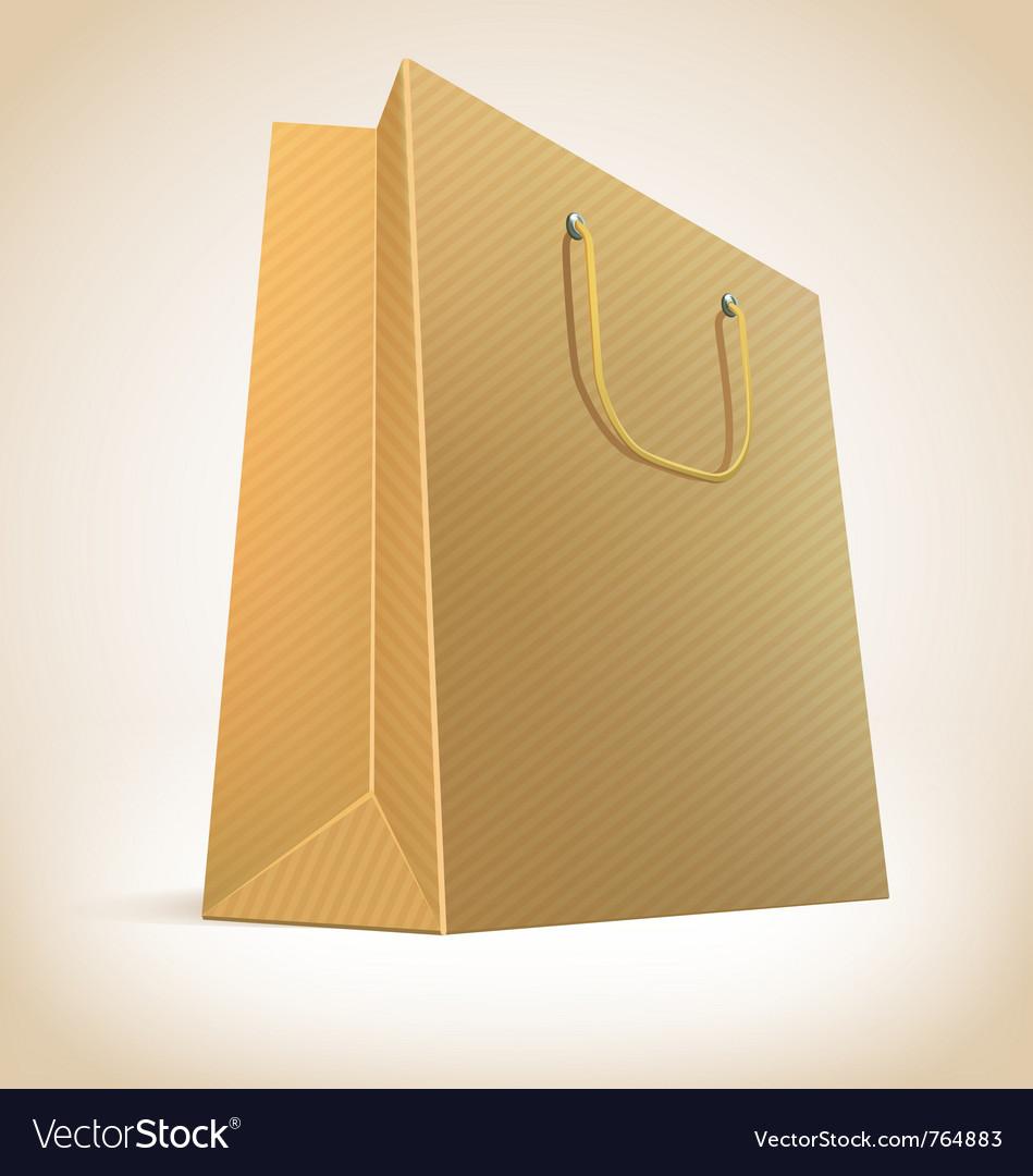 Paper shopping bag vector image