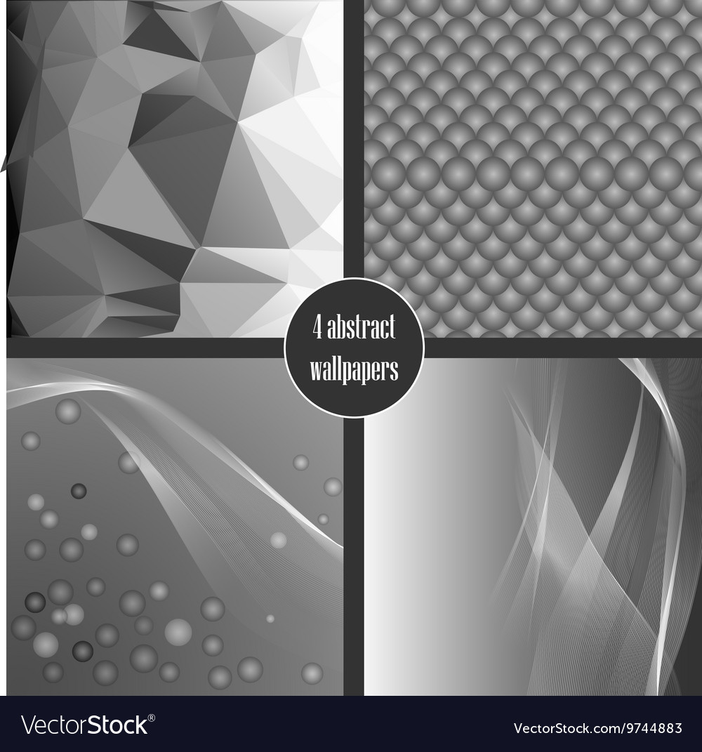 Set of gray abstact backgrounds