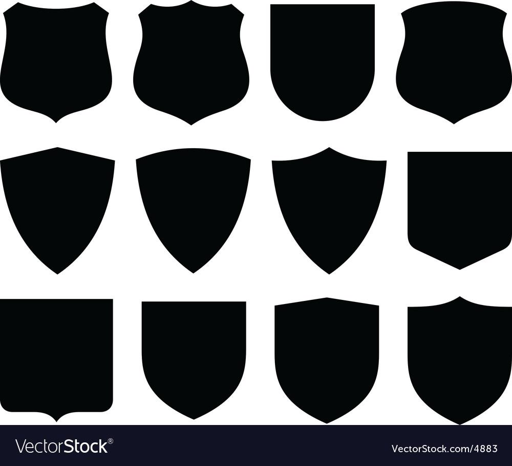 Shields labels vector image