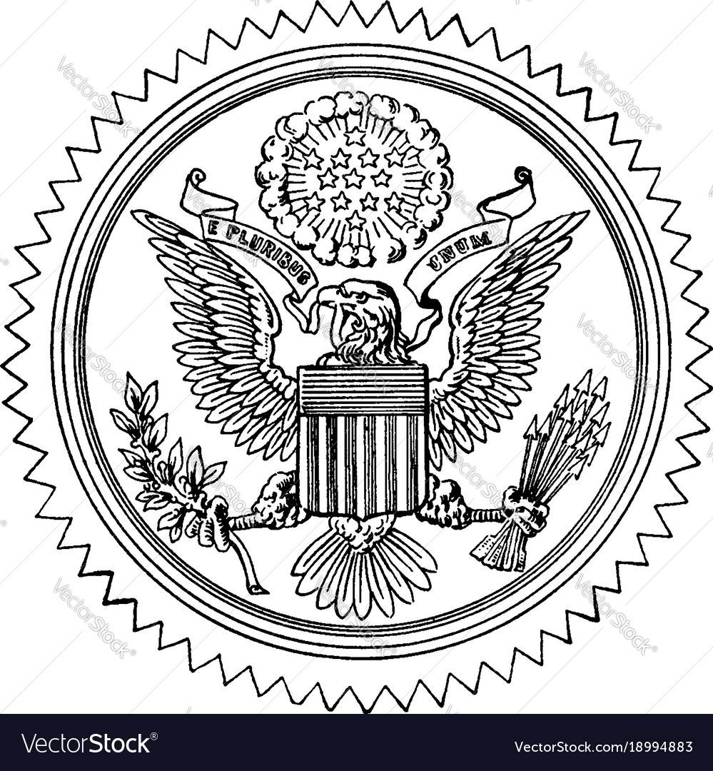 749828aa8 The great seal of the united states vintage Vector Image