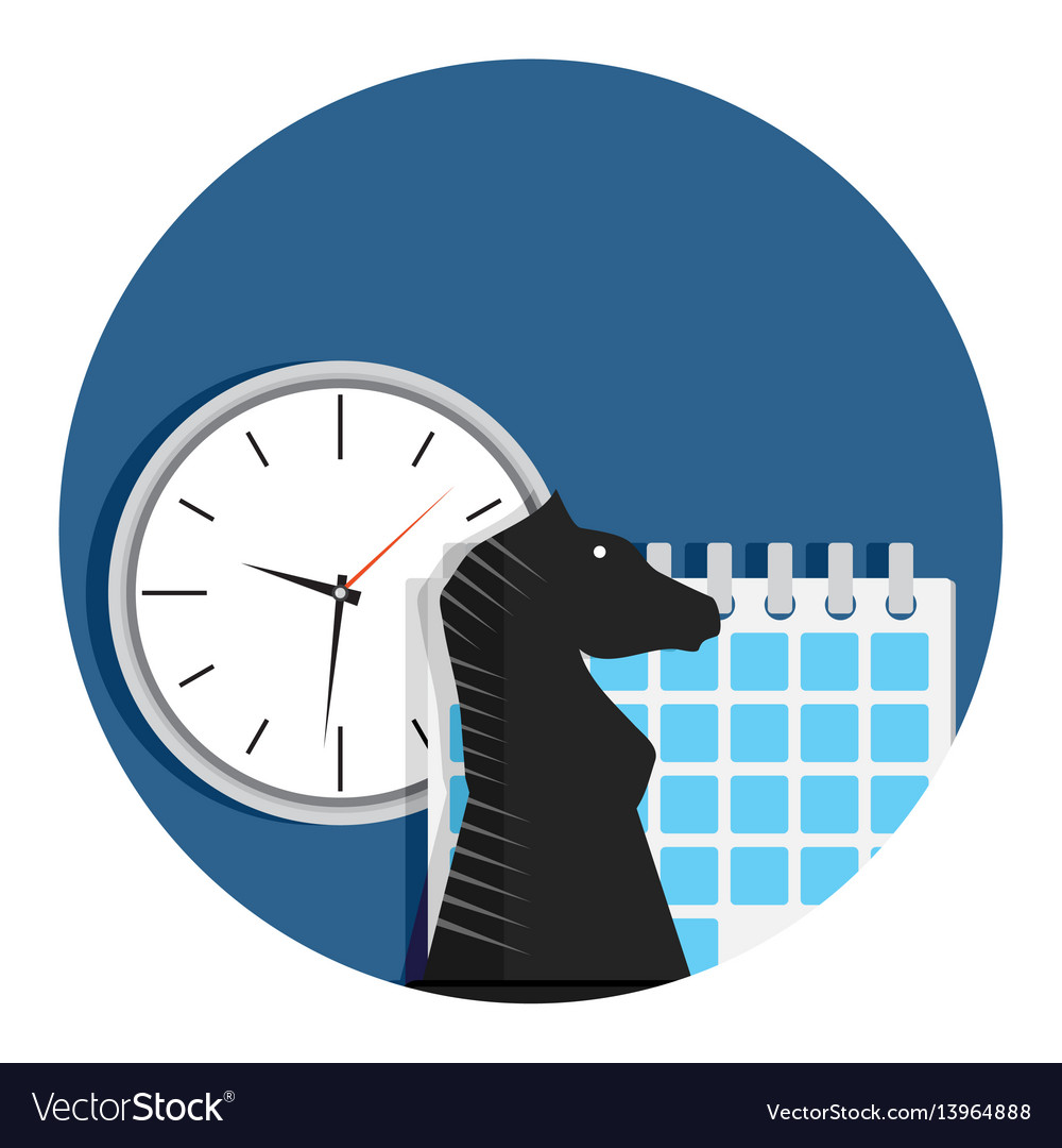 Business and strategy time vector image
