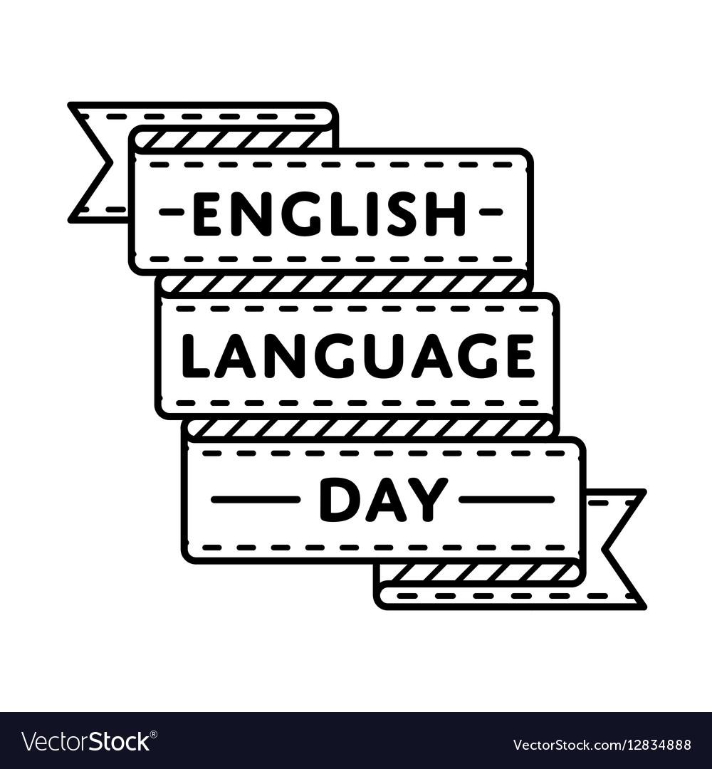 English language day greeting emblem royalty free vector english language day greeting emblem vector image m4hsunfo