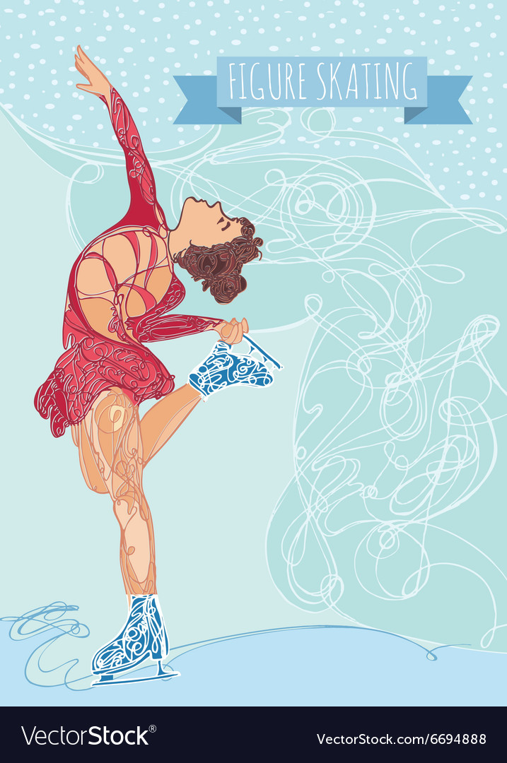 Figure ice skater vector image