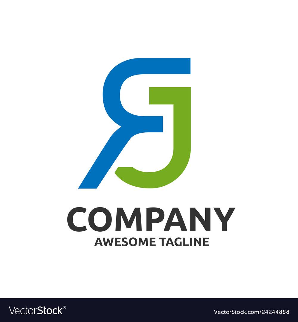 Letter rj logo design