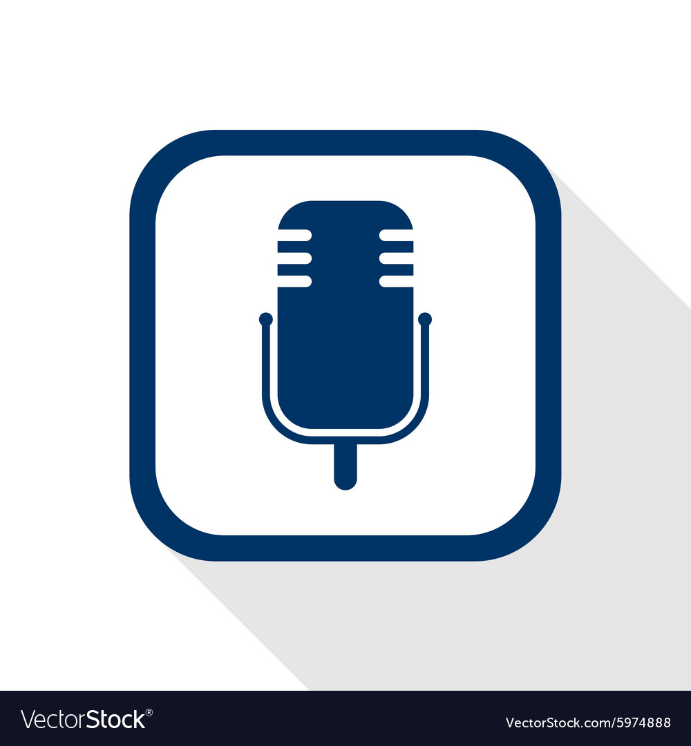 Microphone music flat icon vector image