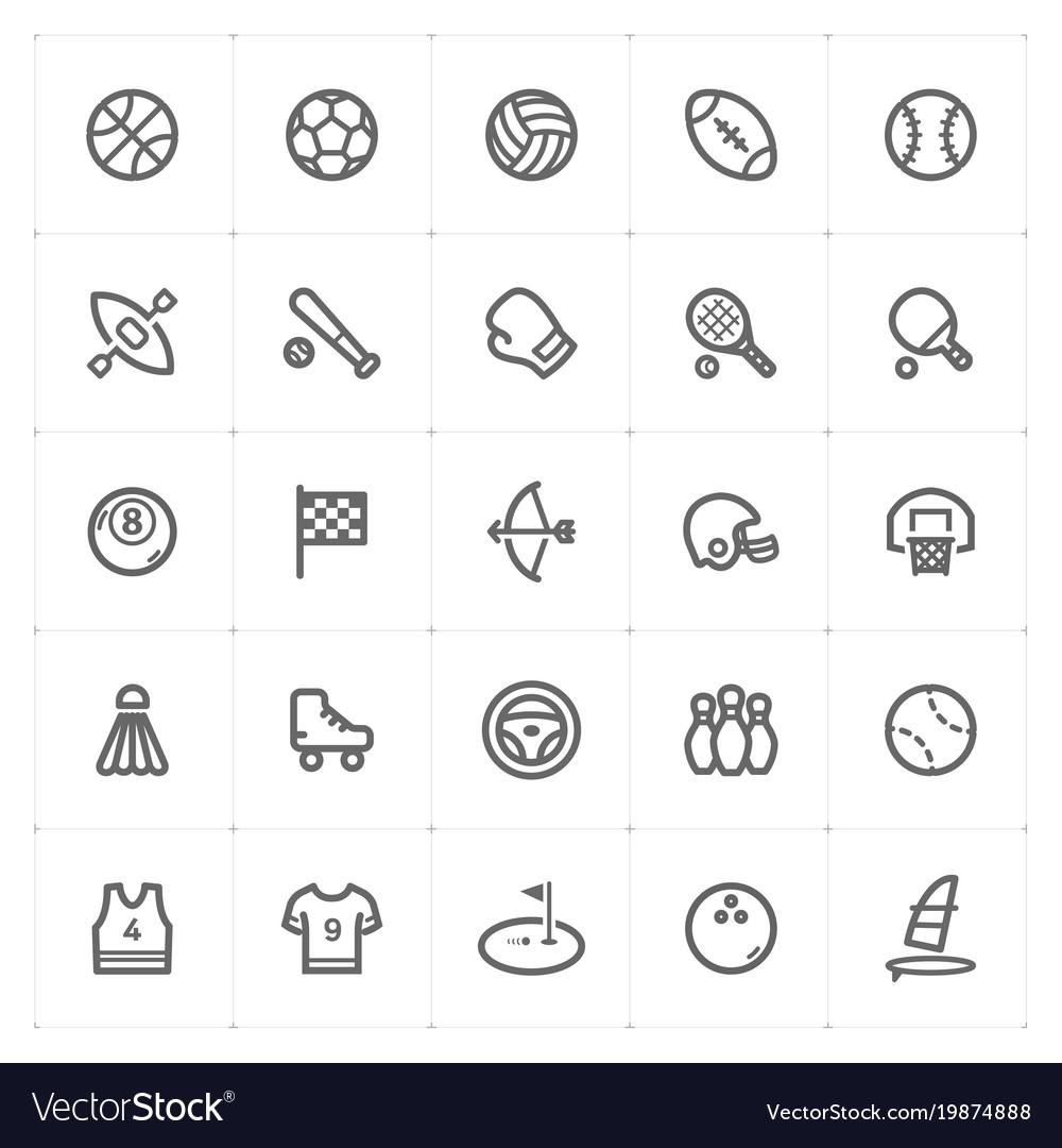 Mini icon set - sport icon