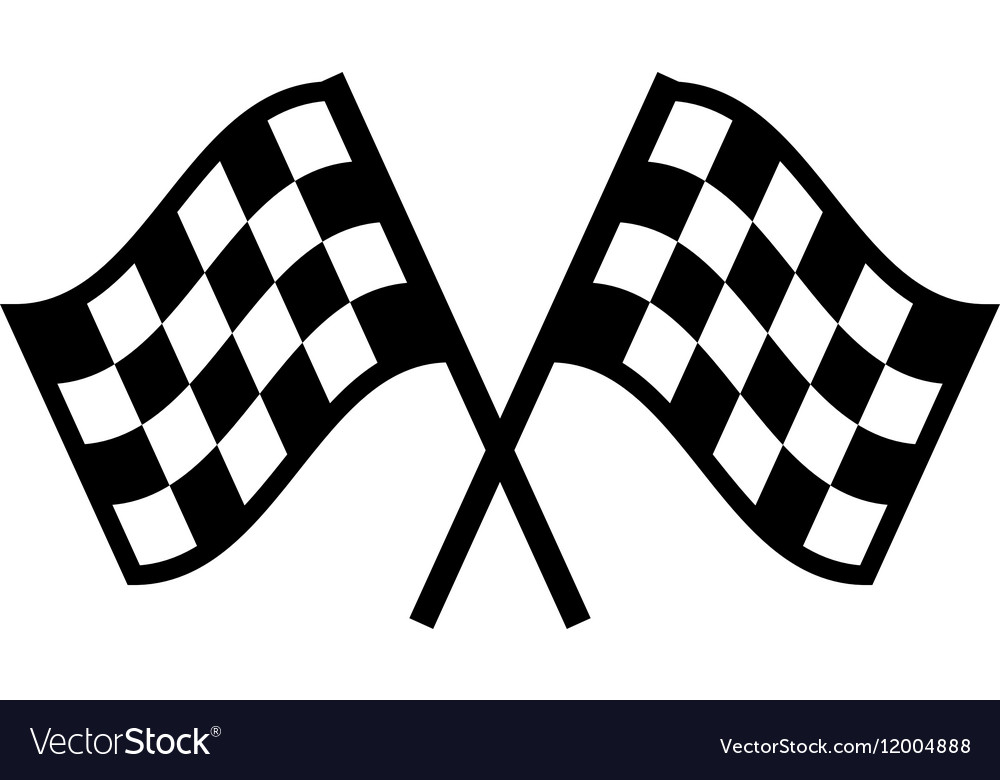Racing Checkered Flag >> Racing flag Icon Flat Royalty Free Vector Image