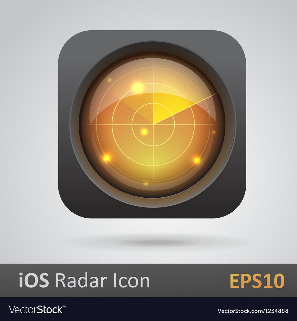 Realistic radar icon