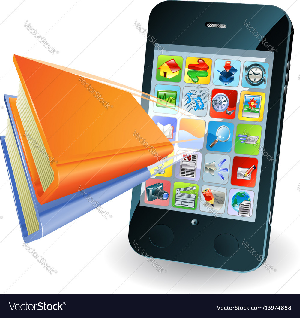 Smartphone book concept vector image