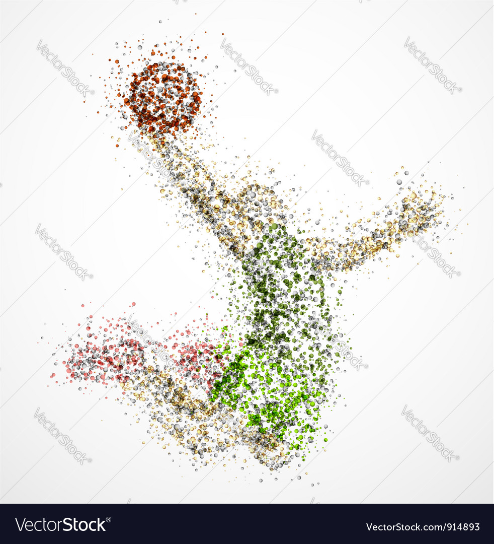 Abstract basketball player2