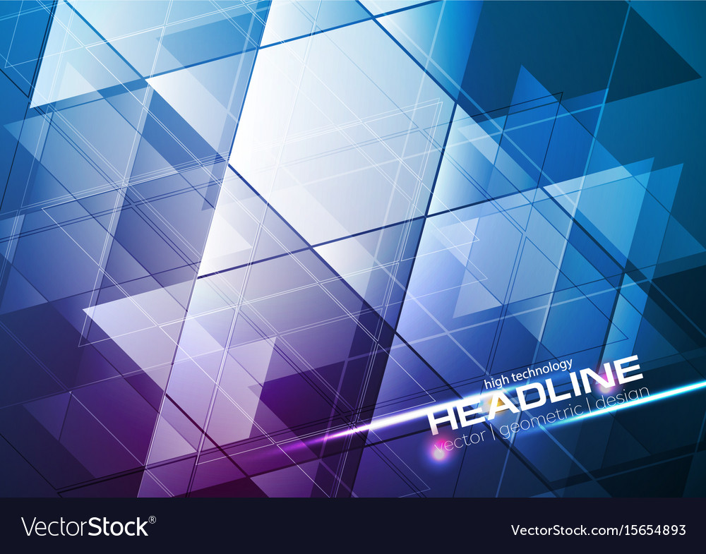Blue And Purple Tech Modern Abstract Background