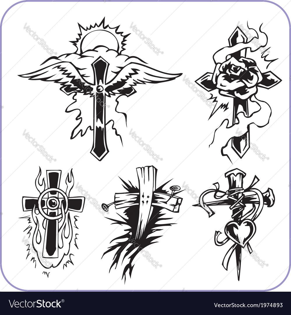 Christian Symbols Royalty Free Vector Image Vectorstock