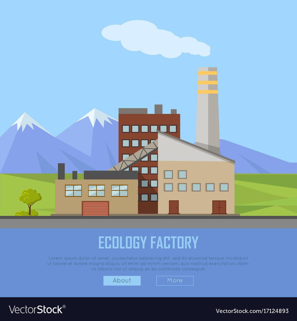 Ecology factory web banner eco manufacturing