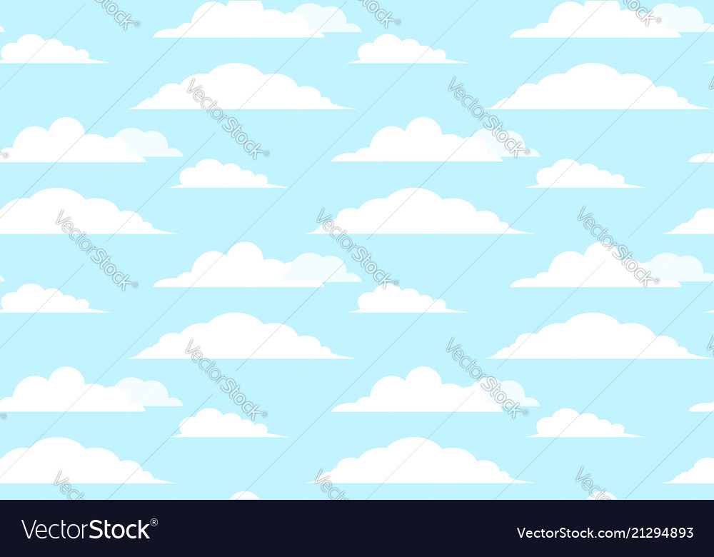 Flat seamless texture of sky with clouds element