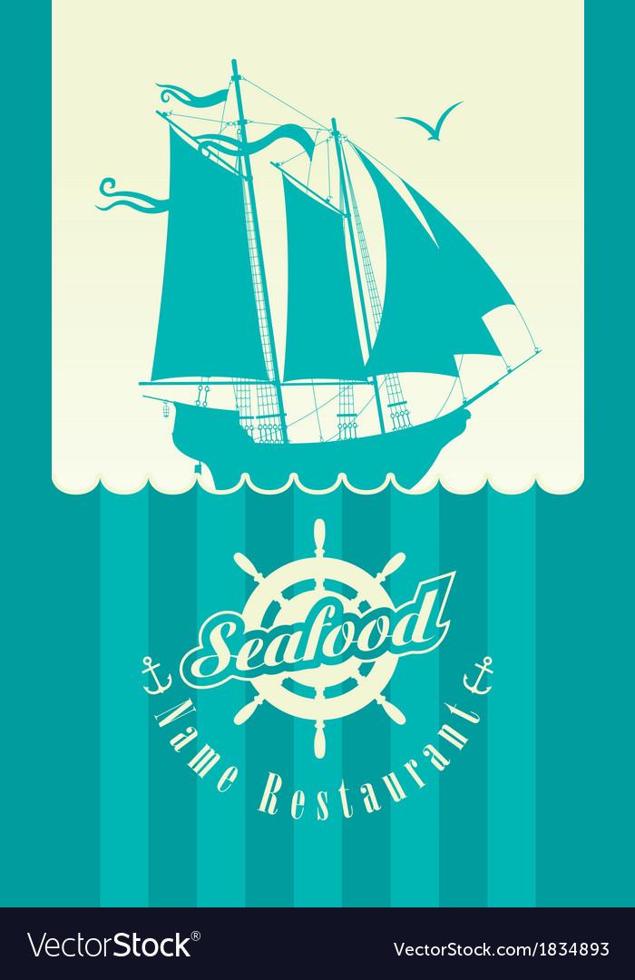 Restaurant seafood vector image