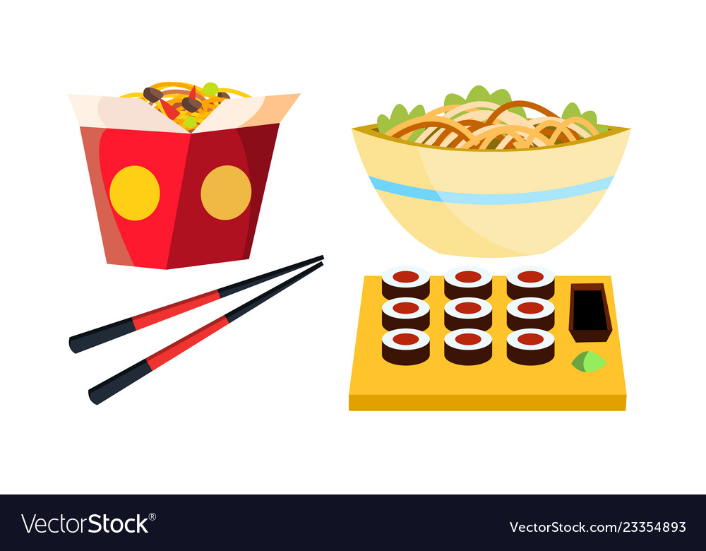 Takeaway chinese food box noodles Royalty Free Vector ImageTakeaway chinese food box noodles vector image on VectorStock - 웹