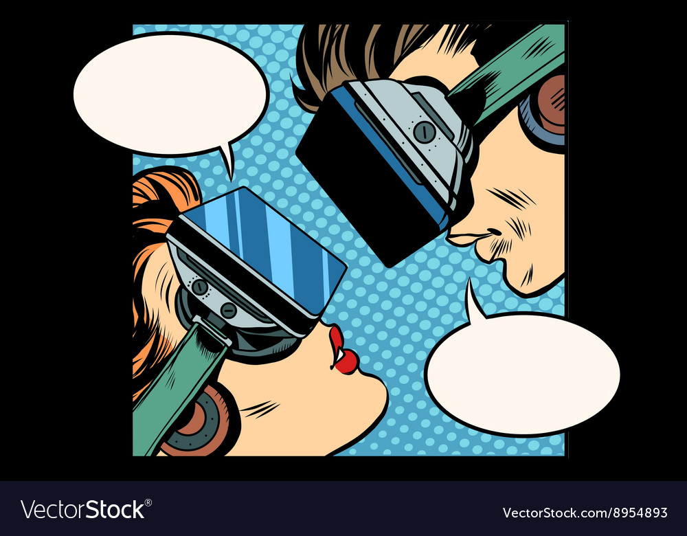 Virtual love man woman vr glasses