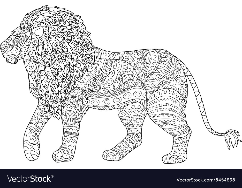 Lion Adult Coloring Page