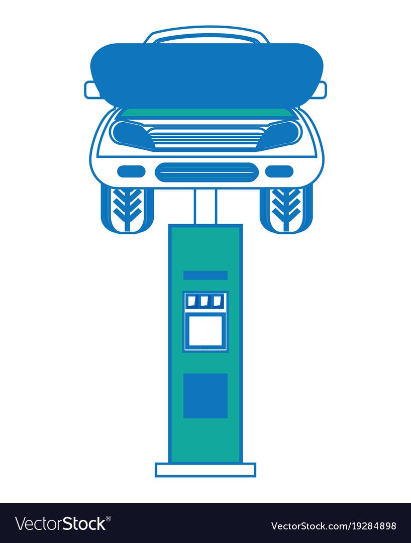 Car lift machine icon