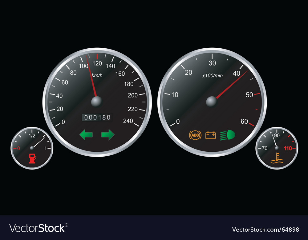 Car's dashboard vector image