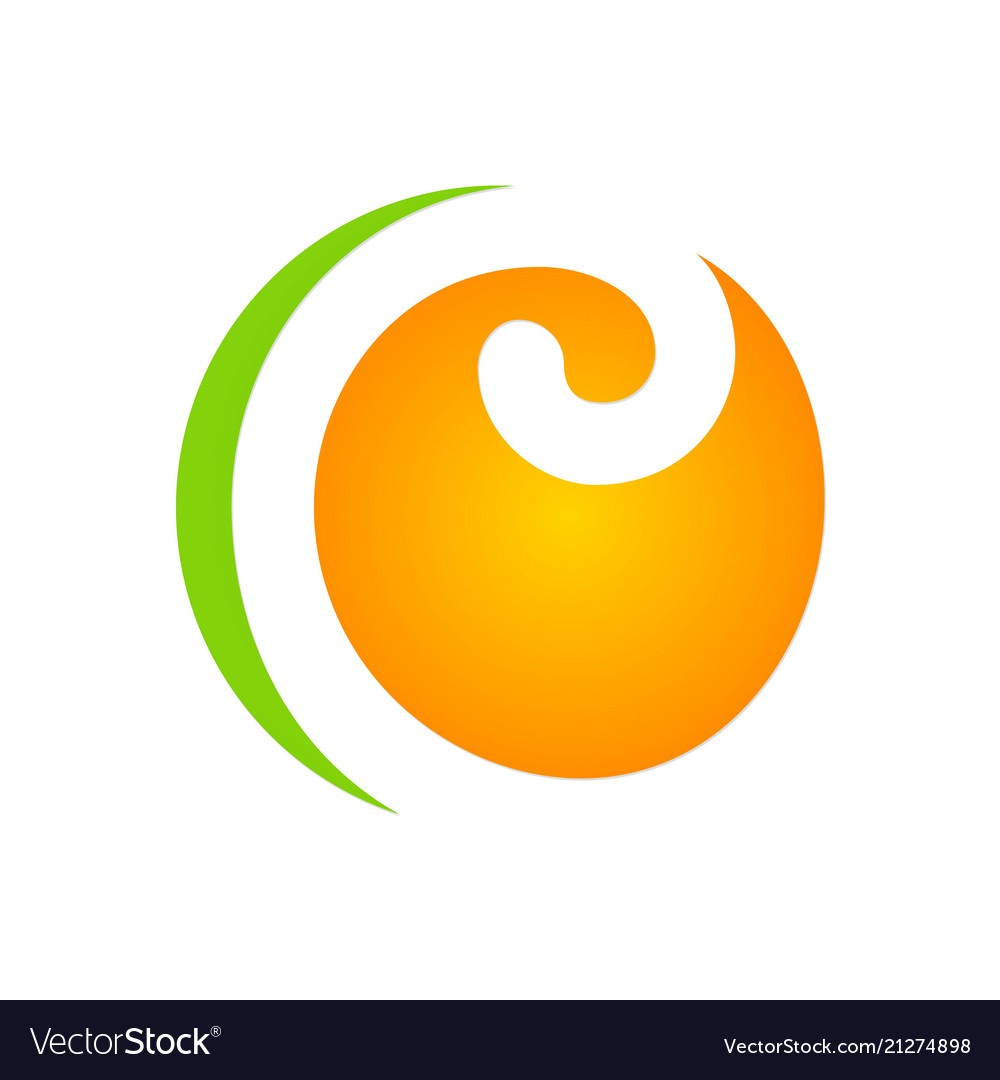 Curl round abstract logo