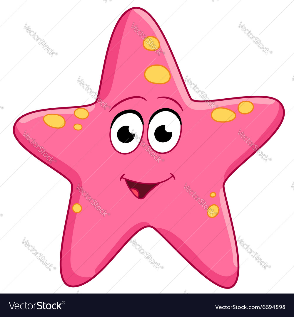 Cute cartoon starfish