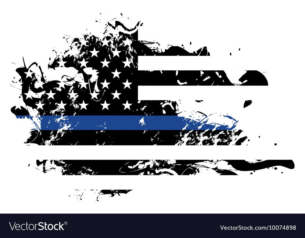 Police support grunge flag