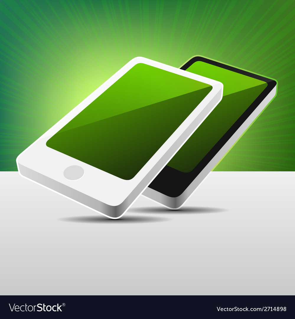 Realistic 3D View Modern Mobile Phones Set - Black