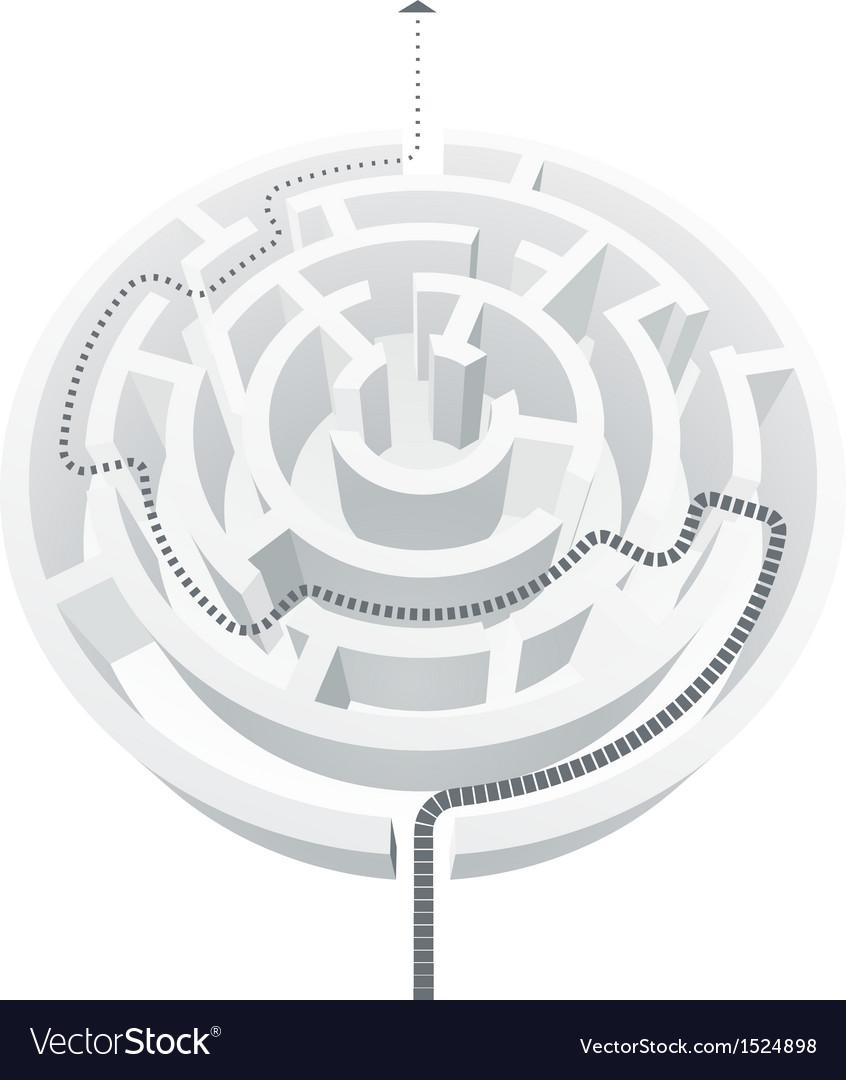 Simple white maze vector image