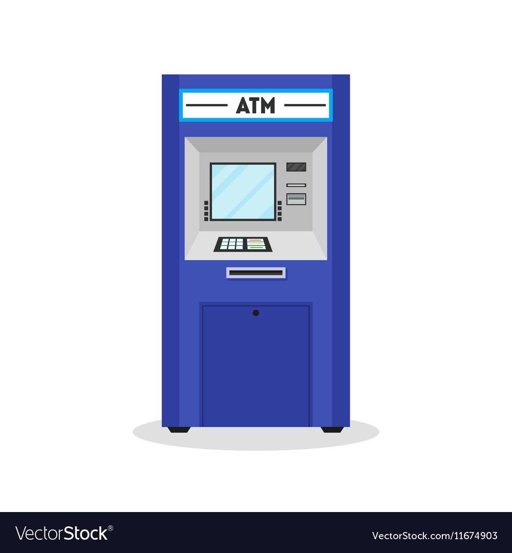 ATM Payment Terminal Auto Teller Machine Vector Image